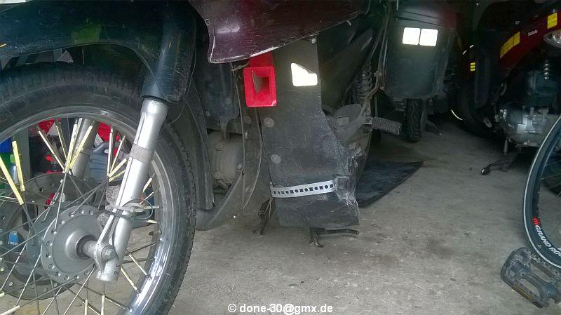 moped abgeholt und schaltwippe muss versetzt werden. Black Bedroom Furniture Sets. Home Design Ideas
